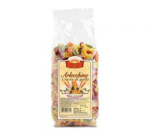 sacchetto pasta colorata creste di gallo 500 gr.