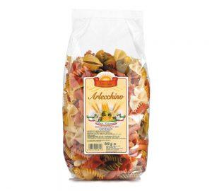 sacchetto pasta colorata fantasia arlecchino gr. 500