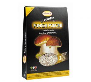 risotto sottovuoto ai funghi porcini senza conservanti sottovuoto 175 gr.