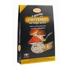 preparato per risotto allo zafferano e funghi porcini 175 gr.