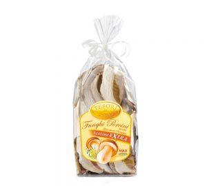 sacchetto funghi porcini secchi testine qualità extra gr. 40 tesori del bosco