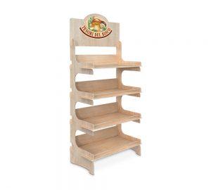 espositore in legno per tutti i prodotti primizie food